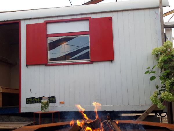 Finse sauna en vuurhoek